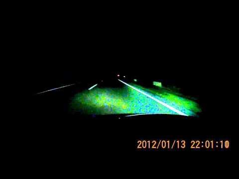 Kameratest ELV mobile-i HD 720p nachts auf der Autobahn