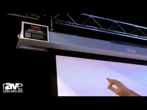 CEDIA 2015: Draper Intros Access Fit/Series E Electric Projection Scree