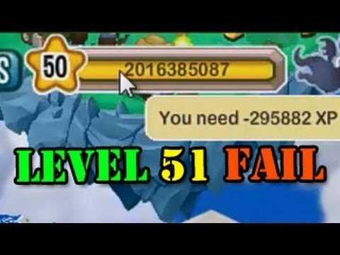 Dragon City Max Level 51 FAIL to Level Up Negative Experience Points
