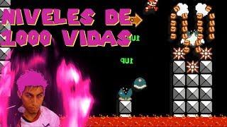 Niveles de 1000 vidas 💪 y clasificados por estrellas ⭐ | Mario maker en español