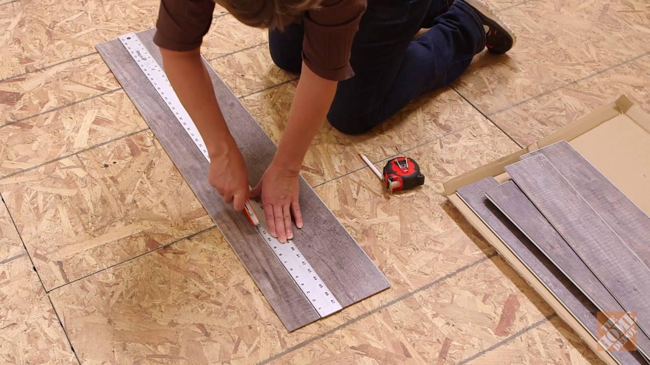 Allure tile flooring installation