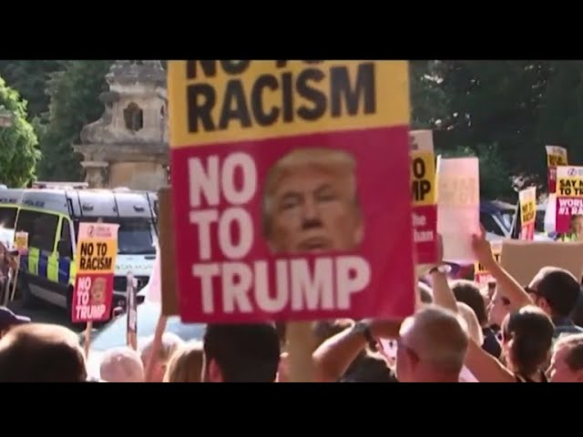 Widespread protests expected during Trump's U.K. visit
