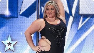 A pole-dancing masterclass from Emma Haslam | Britain's Got Talent 2014