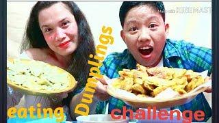 Eating pork and beef dumplings CHALLENGE.. /Epic failed/mukbang