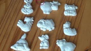 Gipsfiguren gießen / gegen Kinderlangeweile