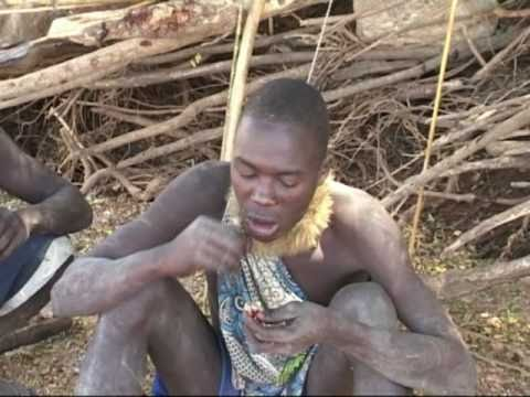Some of the last indigenous people of Africa, the Hadzabe tribe at Lake Eyasi in northern Tanzania