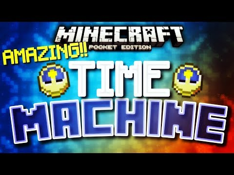 Minecraft Pocket Edition - How to make a TIME MACHINE?!