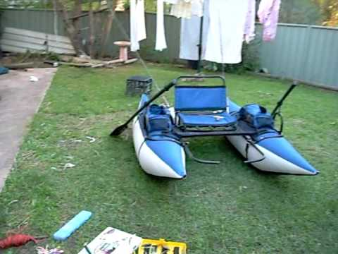 Inflatable fishing pontoon boat how to make do everything for Blow up boat for fishing
