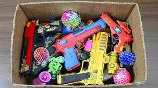 Toy Guns Toys !! Box Full Of Toys with Many Real & Fake Nerf Guns Toys & Military equipment