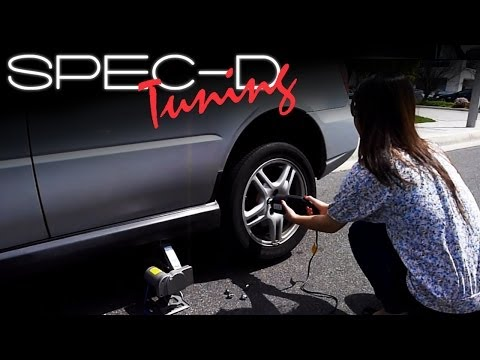 SPECDTUNING INSTALLATION VIDEO: 12v Electric Tire Change Kit