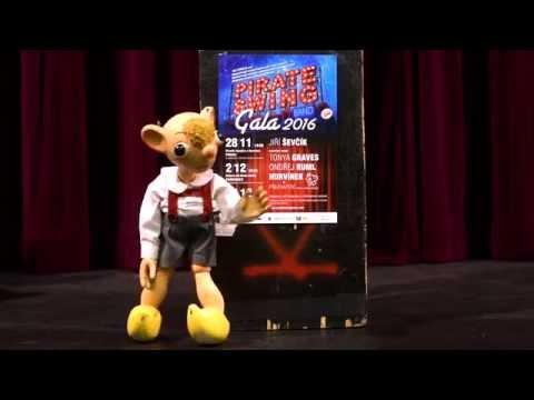 Hurvínkova pozvánka na koncerty PIRATE SWING Band Gala 2016 (feat. J.Ševčík & O.Ruml)