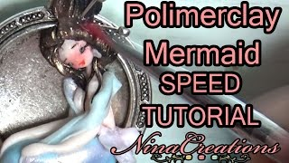 SPEED TUTORIAL FIMO MERMAID | sirena in fimo - NinaCreations