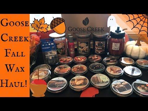 HUGE Fall Goose Creek Candle & Wax Melt HAUL!!!|Autumn 2017🍂