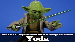 S.H. Figuarts Yoda Star Wars Revenge of the Sith Bandai Tamashii Nations Action Figure Review