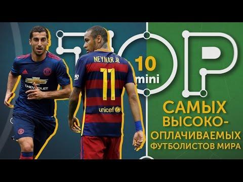 Мини-ТОП-10 самых высокооплачиваемых футболистов мира