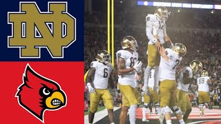 #9 Notre Dame vs Louisville Highlights | NCAAF Week 1 | College Football Highlights