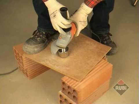 RUBI Brocas Corte Seco para cerámica porcelánico/ Dry Cutting drill bits for tiles & porcelain
