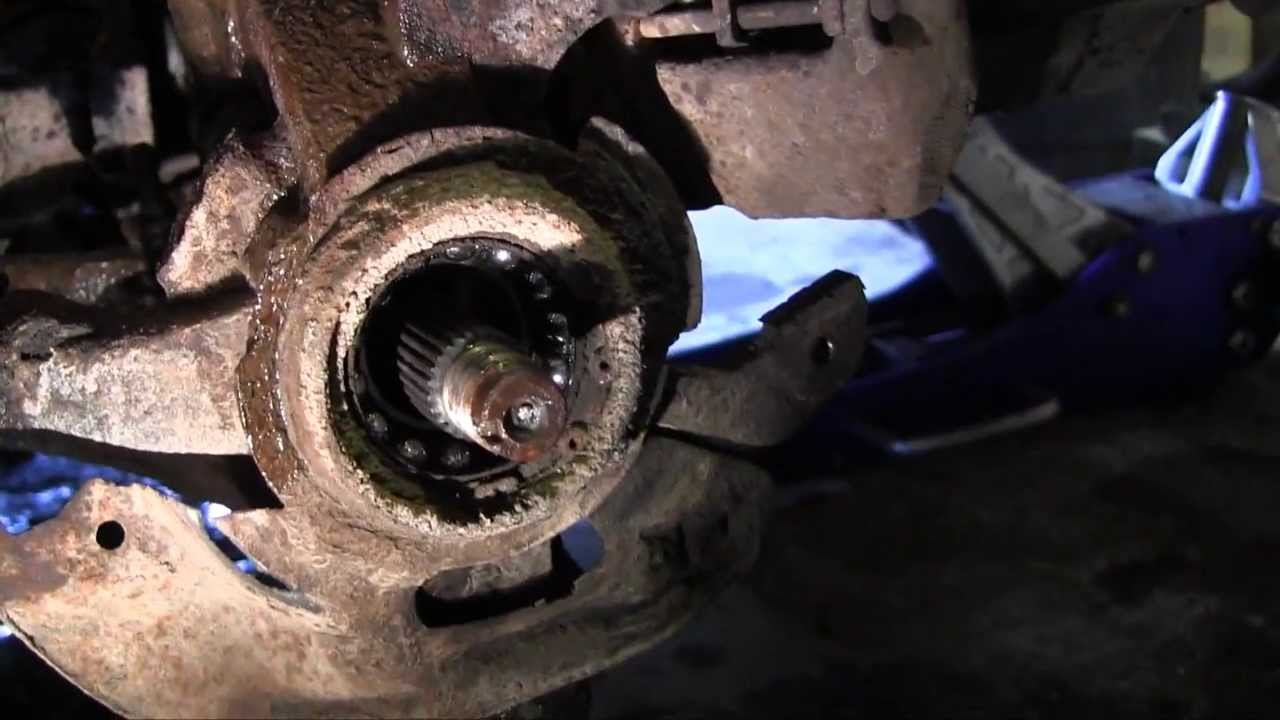 Front Wheel Bearing Replacement Ford Escort Zx2 Youtube