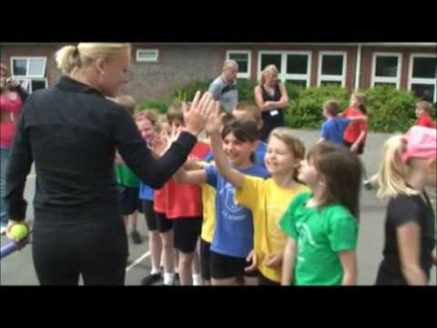 Elena Baltacha Goes Back to School