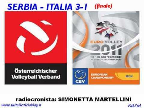 EuroVolley 2011 alla radio - Serbia Italia 3-1 (finale)