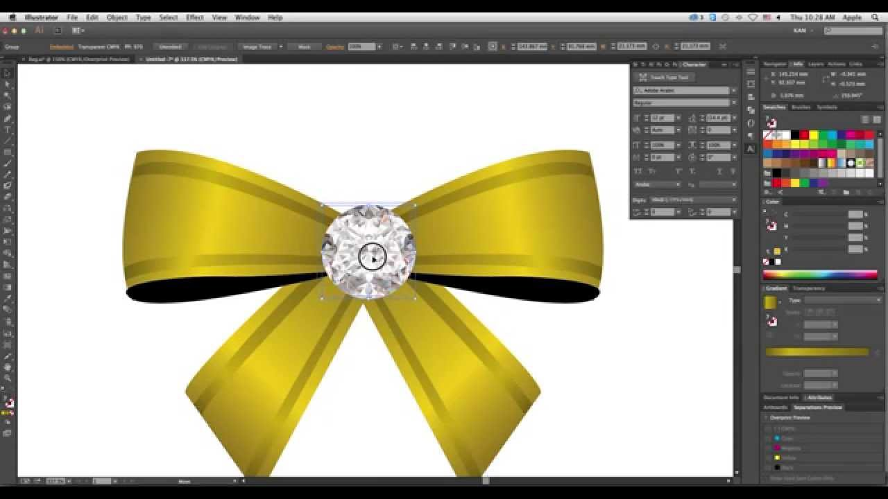 how to create ribbons in ullustrator swirling