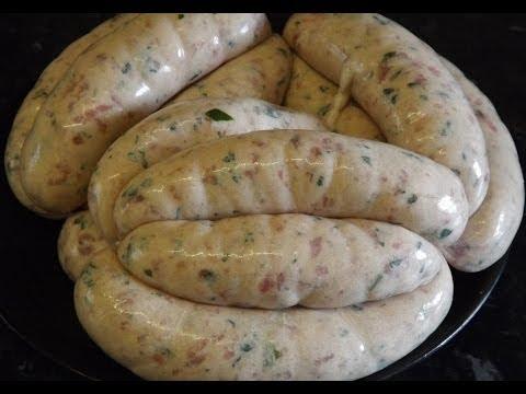 How To Make Sausages. Pork And Wild Garlic Sausage.