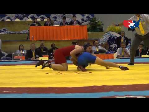 2012 Junior Worlds - FW 67kg - Jennifer Page (USA) vs. Han Bit Lee (Korea)