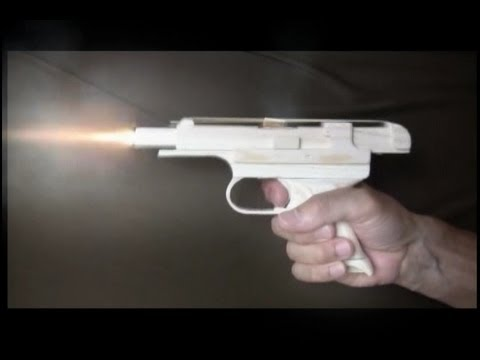 Blowback rubber band gun : Muzzle Flash-Nambu 94 Pistol Type