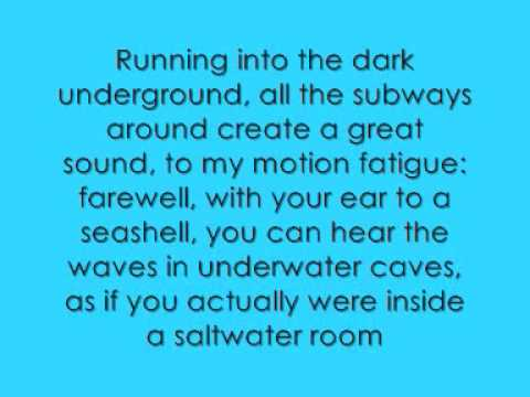 owl city - the saltwater room lyrics
