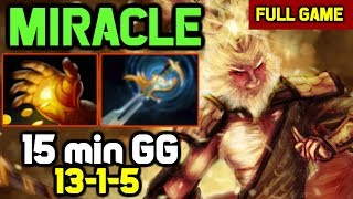 OMG! Miracle ended the game in 15 min - Totally Destroyed Mid tiny 0-11