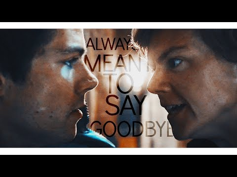 We were always meant to say goodbye. ✘ Thomas & Newt