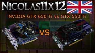 NVIDIA GTX 650 Ti vs GTX 550 Ti