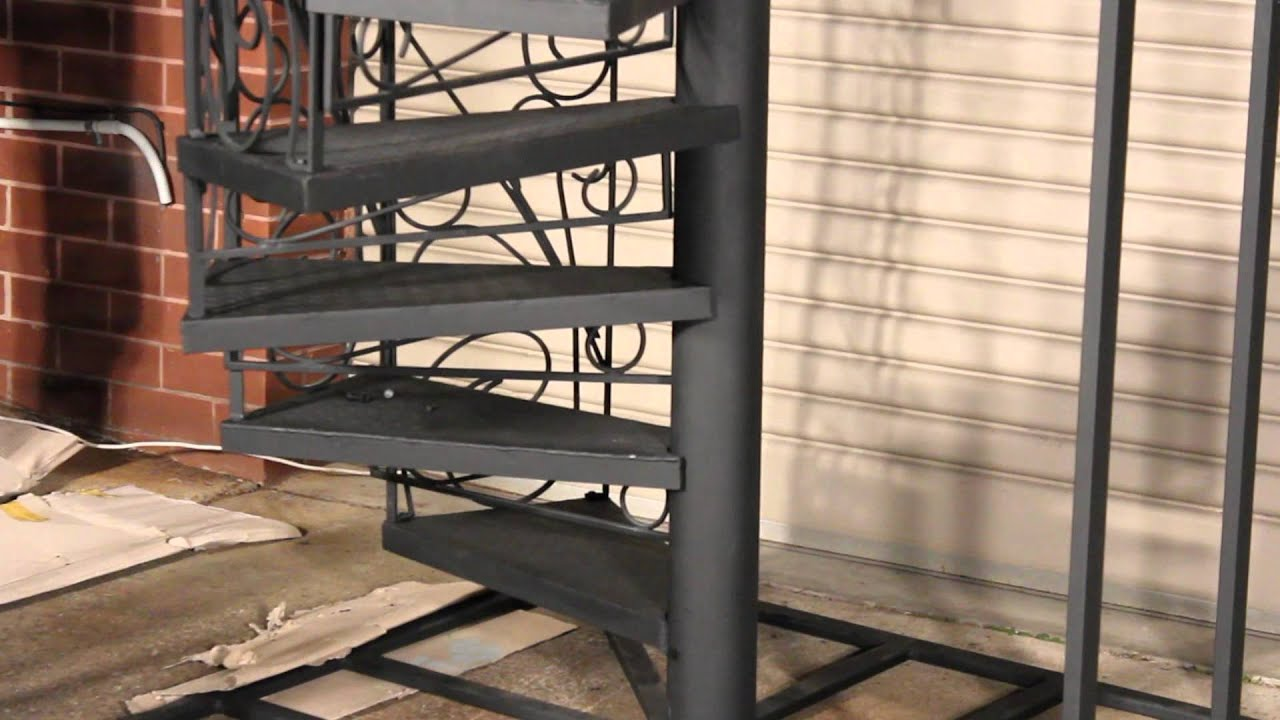 Assembly instructions wrought iron spiral staircase youtube - Spiral staircase wrought iron ...
