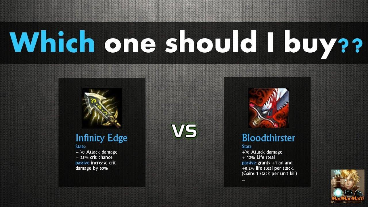 Infinity Edge :: League of Legends (LoL) Item on MOBAFire
