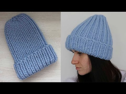 Связать резинку спицами - выбираем вариант для шапочки