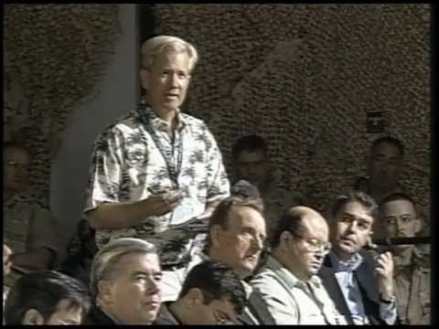 Chas Henry at CENTCOM News Conferences - Doha, 2003