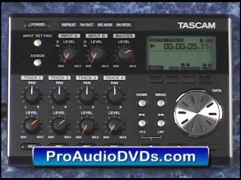 Tascam DP-004 Video Tutorial Demo Review Help Edits