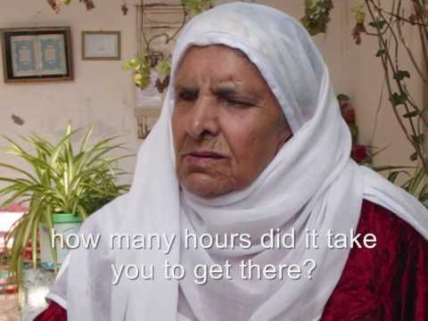 A mother of a Palestinian prisoner who got blind because of crying