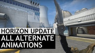 All Alternate Draw and Inspect Animations | Horizon Case Update | CS:GO