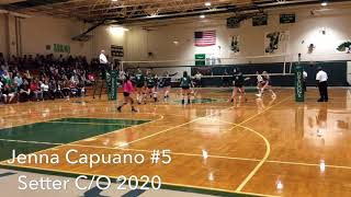 Lake Placid High Jenna Capuano #5 Setter Class of 2020 Highlights vs. Holy Trinity