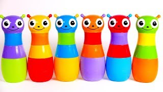 Learn Colors with Bowling Playset for Kids | Learn with Yippee Toys