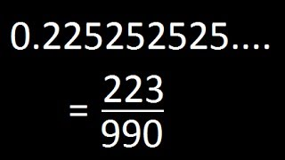 Decimal to Rational - Part 3 HARD (Combination of recurring and Non Recurring digits)