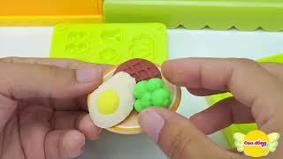 Bộ đồ chơi nhà bếp với đầy đủ món ăn từ đất sét