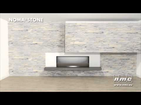 wandverkleidung in stein nomastone youtube. Black Bedroom Furniture Sets. Home Design Ideas