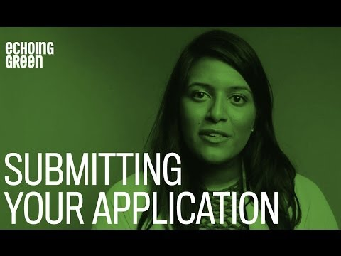 Echoing Green Fellowship Application Tips
