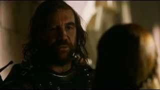 Game of Thrones S02E07 Sandor Clegane and Sansa Stark