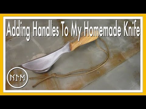 Homemade Hunting Knife: Adding the Handles