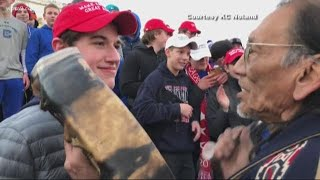 Video of teens and native elder goes viral