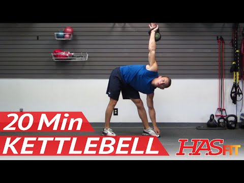 HASfit's 20 Minute Kettlebell Workout - Kettle Bell Exercise Routine - Kettlebell Training Work Out Image 1