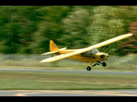 2009 Greenwood Lake Airshow - Kirk Wicker & Piper J3 Cub